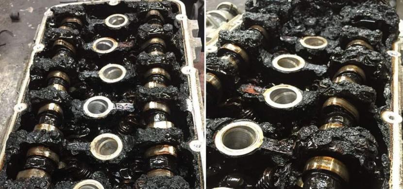 Jak vypadá motor, kde 135 000 km nebyl měněn olej?