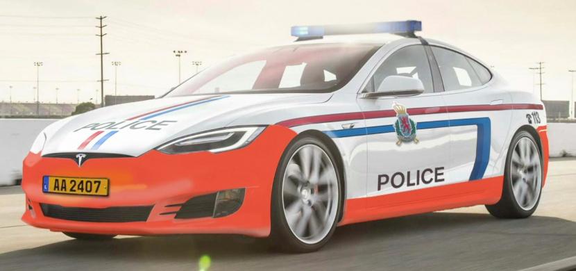 Tohle jinde neuvidíte! Tesla Model S jako policejní vůz v Lucembursku