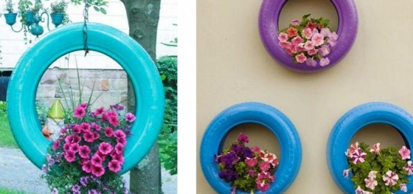Staré pneumatiky nepatří na odpis: Vytvořte z nich nádherné zahradní dekorace
